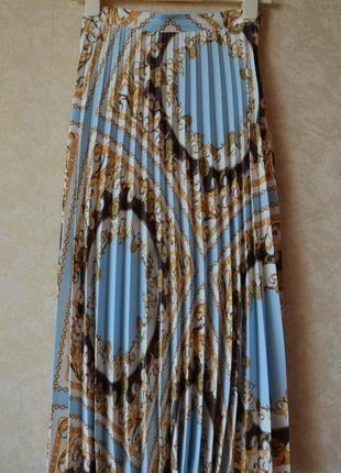Плиссированная юбка миди с принтом цепи f&f