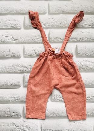Zara стильные штаны на девочку 6-9 мес