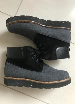 Ботинки кожаные демисезонные дорогой бренд германии gadea размер 38