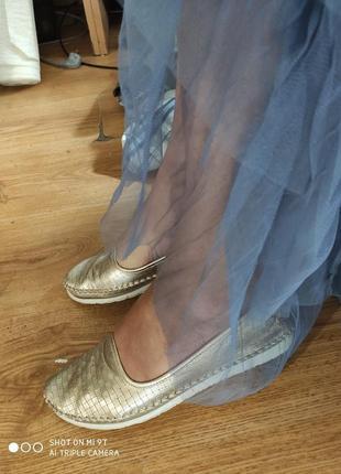 Золотые балетки 41 размер