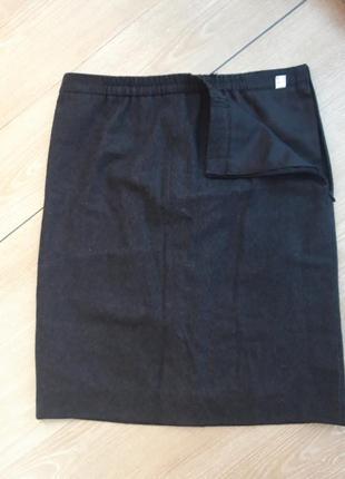 Шерстяная юбка на резинке
