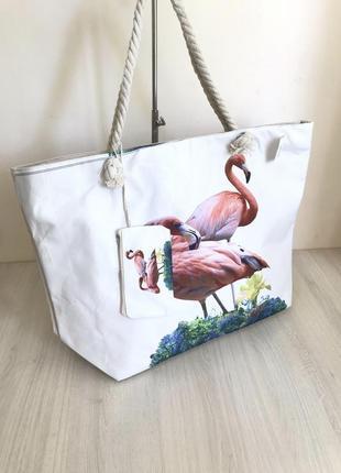 Большая пляжная сумка с кошельком