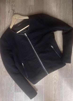 Фактурный черный жакет пиджак батал