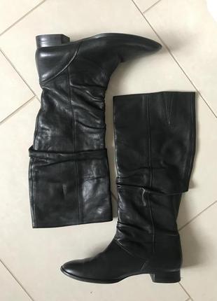 Сапоги кожаные демисезонные дорогой бренд австрии paul green размер 38