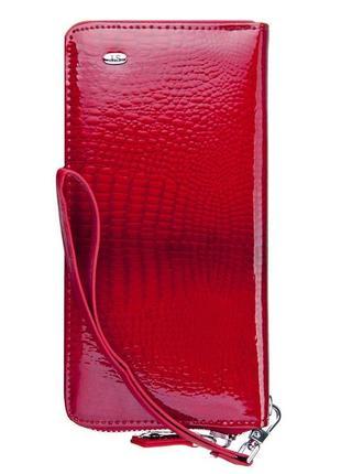 Кожаный красный женский кошелек st s-4001 разные цвета