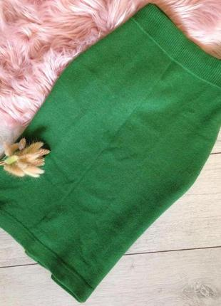 Тёплая зимняя кашемировая шерстяная юбка миди