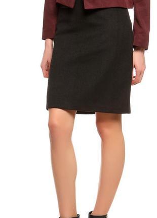 Новая теплая шерстяная юбка бренд