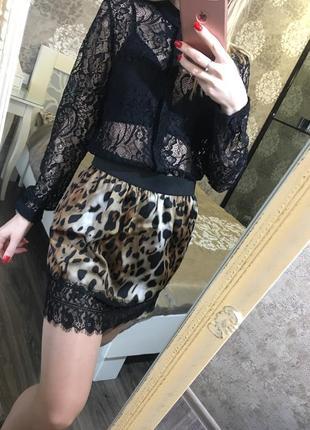 Юбка в леопардовый принт