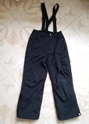 Лыжные штаны на подтяжках