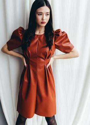 Обалденное кожаное платье