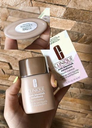 Тональный крем 30 мл для проблемной кожи clinique anti-blemish solutions