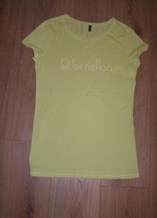 Удлиненная футболка с логотипом  benetton, р.м