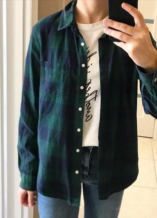 Клетчатая рубашка h&m