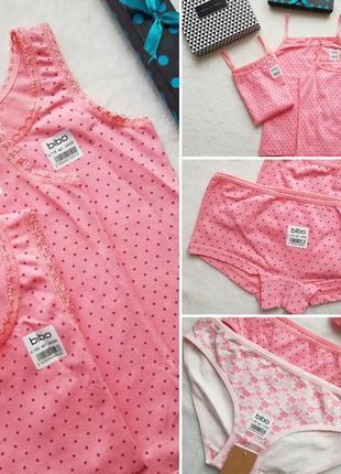 Набор нижнего белья для девочки трусики и маечка