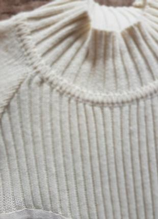 Платье туника белое шерстяное