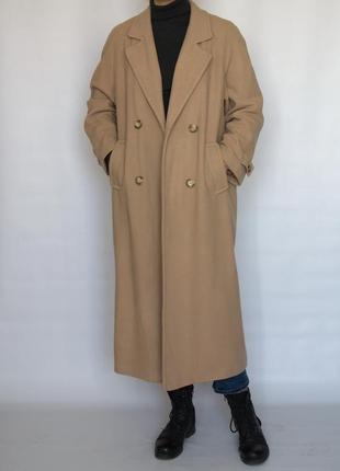 Трендовое пальто в стиле оверсайз bns, шерсть