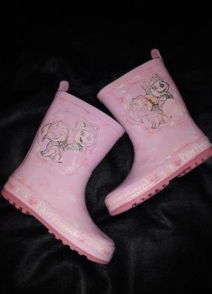Резиновые сапоги сапожки обувь щенячий патруль paw patrol 17,5 см