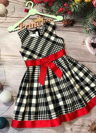 Шикарное платье в клеточку bonnie jean