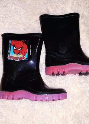 Резиновые сапоги сапожки обувь amazing spider-man человек - паук