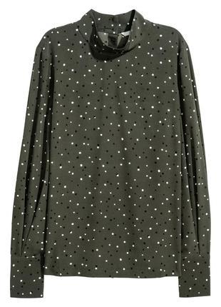 Блуза с воротником стойкой h&m