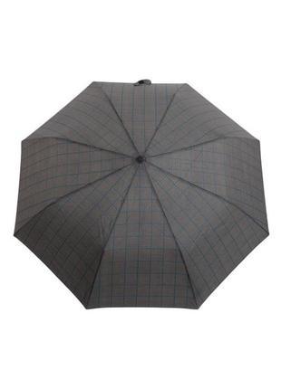Мужской зонт-полуавтомат ferre milano 229с черный в бирюзовую полоску
