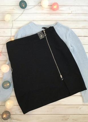 Новая чёрная юбка с замком atmosphere