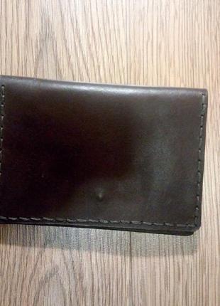 Бумажник, документница мужская, натуральная кожа, ручная работа