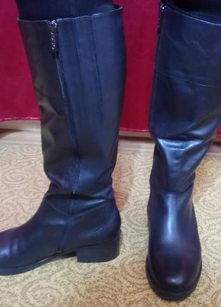Сапоги кожаные duo