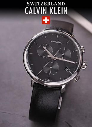 - 50% | мужские швейцарские часы хронограф calvin klein k8m271 (оригинальные, новые)