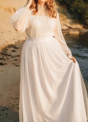Свадебная юбка и блюза.