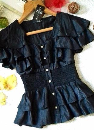 Шикарная блузка с напылением