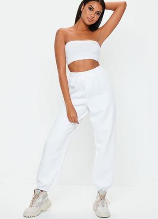 👑♥️final sale 2019 ♥️👑  белые джогеры на флисе без карманов