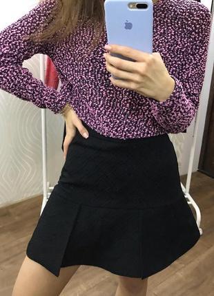 Шикарная чёрная юбка h&m