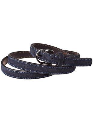 Женский замшевый ремень узкий jk-1510 blue (1,5 см)