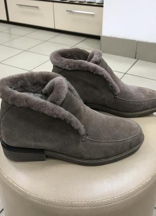 Зимние ботинки лоферы