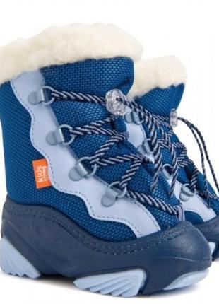 Зимние сноубутсы сапоги ботинки дутики на овчине демар demar snow mar. размеры 24-29