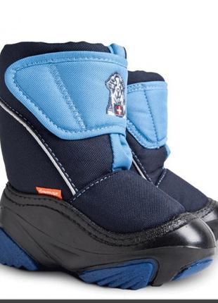 Зимние сноубутсы сапоги ботинки дутики на овчине демар demar doggy. размеры 24-29