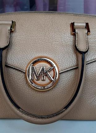 Фирменная кожаная сумка michael kors ( original).