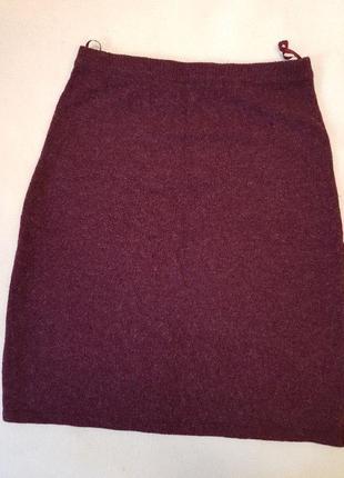 Теплая юбка трикотажная