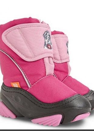 Зимние сноубутсы сапоги ботинки дутики на овчине демар демар doggy 24-29