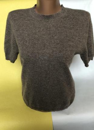 Крутой свитер с коротким рукавом шерсть и кашемир