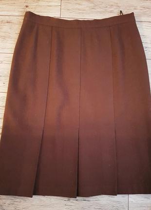 Новая шерстяная юбка миди со складками