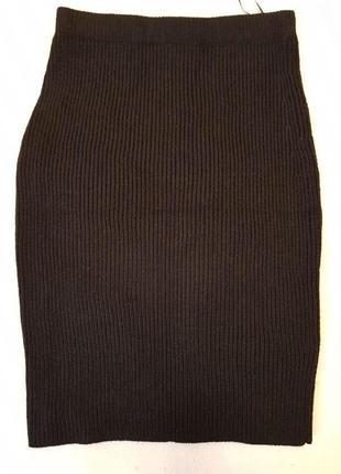 Теплая вязанная юбка