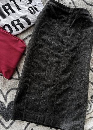 Нарядная юбка осень зима с люрексом