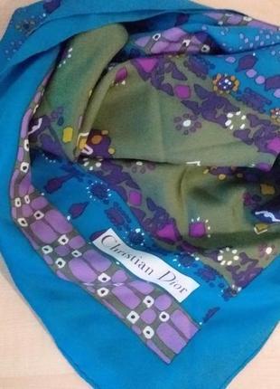 Christian dior vintage шелковый платок