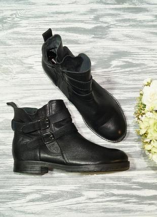 🌿39🌿кожа. стильные ботинки на низком ходу