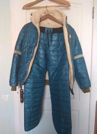 Зимний костюм морская волна