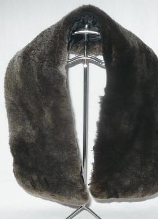 Воротник натуральный мех овчина мутон на куртку опушка на капюшон декор меховой