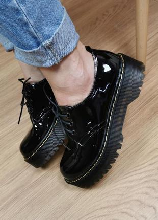 Туфли броги лаковые