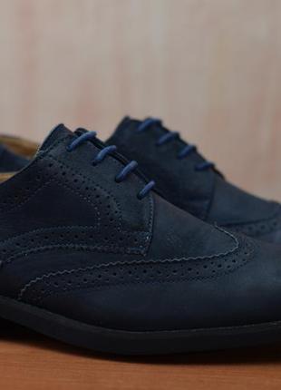 Синие кожаные мужские туфли, броги 3i. 42 размер. оригинал